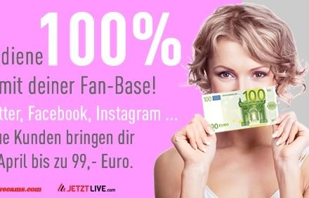 News from 26.03.2018 – Earn 100% with your fan base
